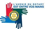 "Logo 2009 - ""L'avenir du rotary est entre vos mains"""