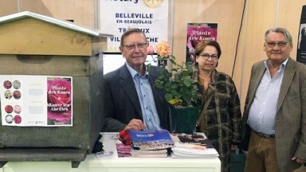 Les représentants des clubs de Trévoux, Belleville et Villefranche